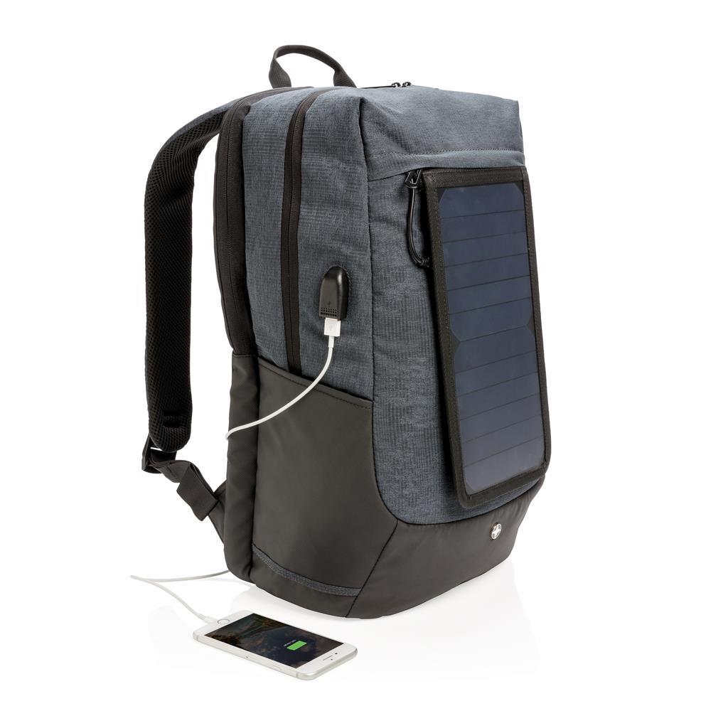 """Sac à dos pour ordinateur portable 15"""" avec un panneau solaire"""
