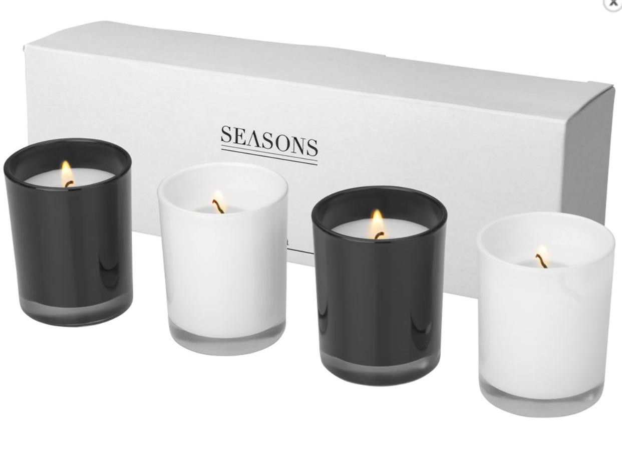 Set de 4 bougies