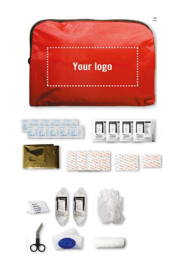 Kit premiers secours avec pochette