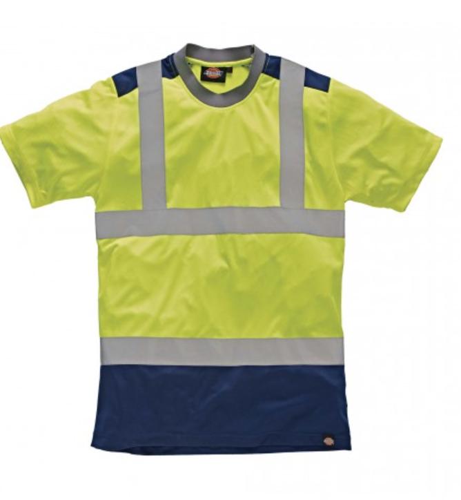 T-shirt haute visibilité bicolore