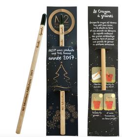 Crayon avec une mine en bois