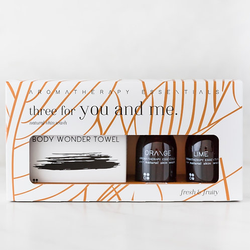 Three For You And Me - Fresh & Fruity - Orange/Lime