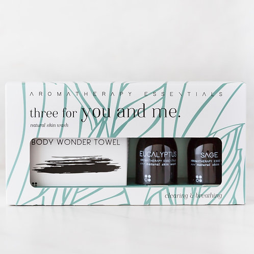 Three For You And Me - Clearing & Breathing - Eucalyptus/Sage