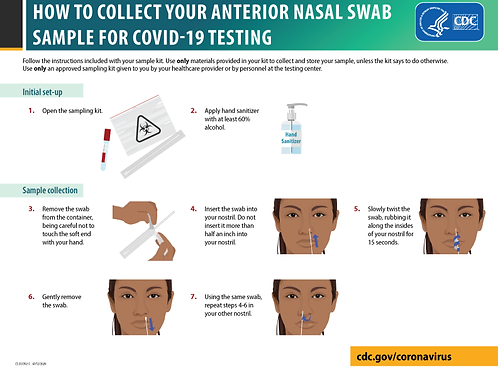 HOW TO COLLECT YOUR ANTERIOR NASAL SWAB SAMPLE FOR COVID-19 TESTING