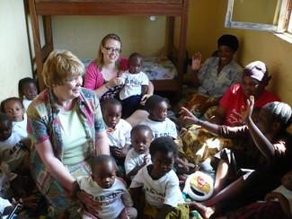 Together with Gloria and Ruth in Bukavu 2006