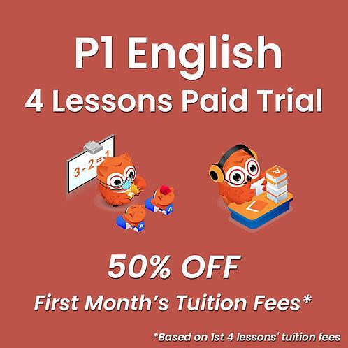 P1 English - 4 Lessons Paid Trial (Classroom / Live-Stream)