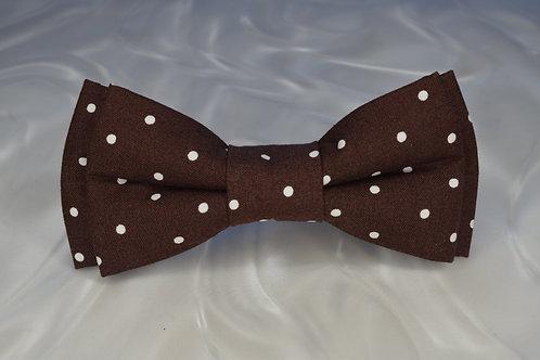 Brown Cotton Polkadot