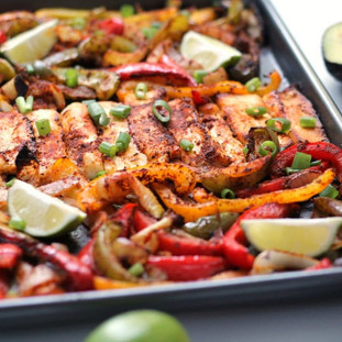 Happy Veggie Kitchen Roasted Halloumi Fajitas