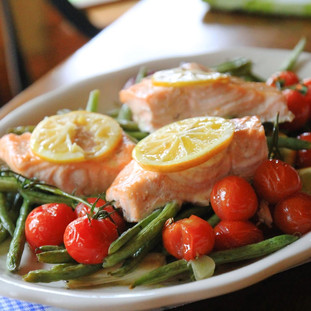 JSH Lemon Roasted Salmon & Vegetables