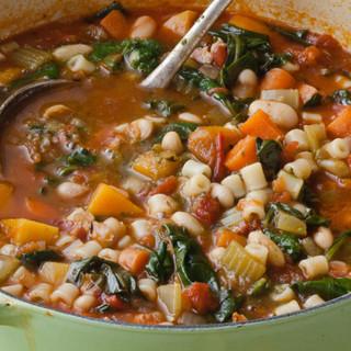 Ina Garten Winter Minestrone & Garlic Bruschetta