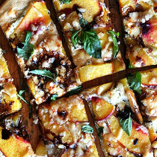 Alexandra Cooks Nectarine Pizza with Fresh Basil and Reduced Balsamic