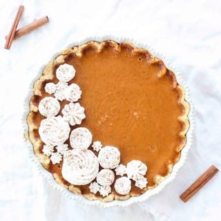 Elisabeth & Butter Pumpkin Pie & Bourbon Whipped Cream