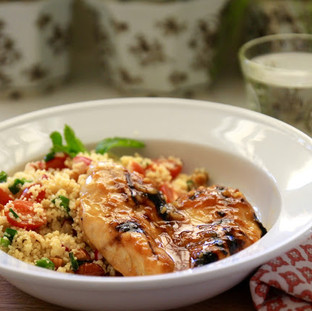 JSH Apricot Glazed Chicken & Couscous