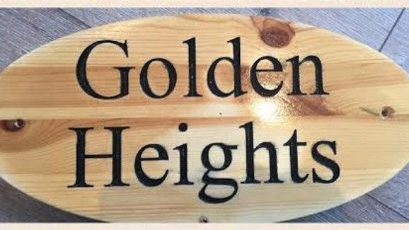 Outdoor Hardwood Signs