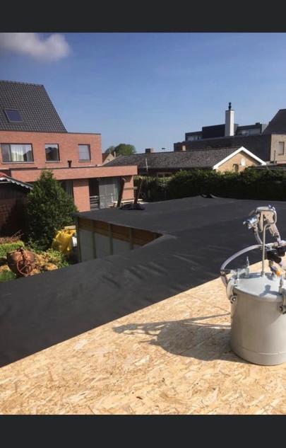 EPDM plaatsen dak poolhouse