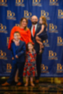 Bo Copley and his family after he announced his candiacy for US Senate in West Virginia.