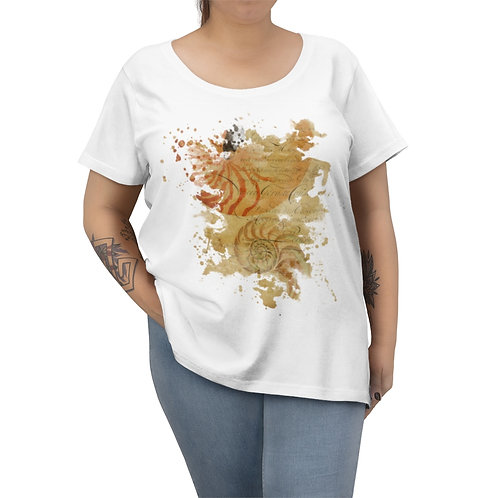 Shell Collage No.001-Women's Curvy Tee