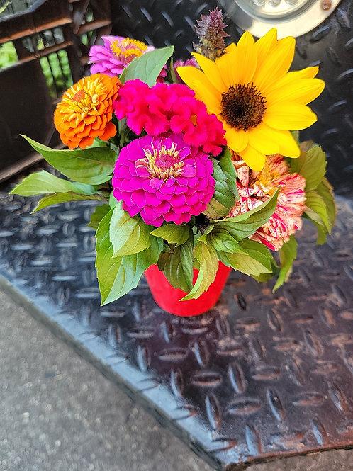 Solo Cup Flower Boquet
