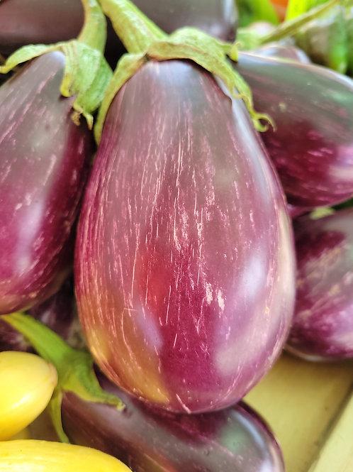 Striped Eggplant   (1.5lbs +/-)