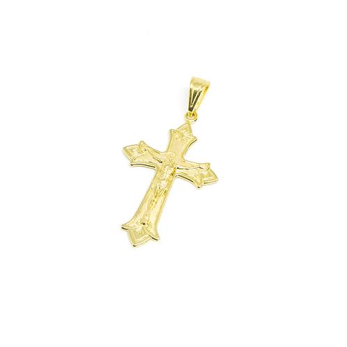 Pingente Crucifixo Banhado a Ouro
