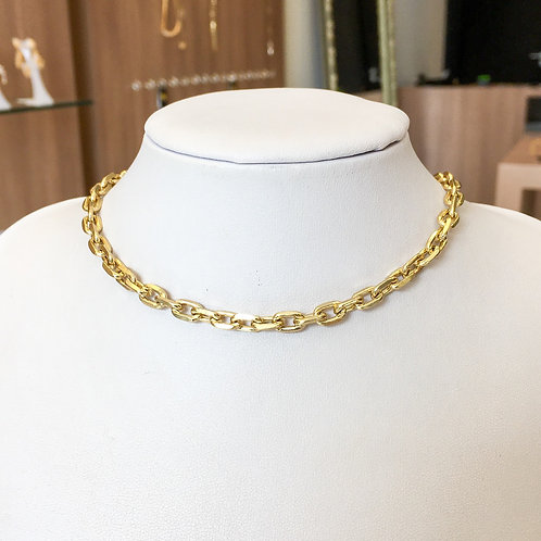 Choker Corrente Cartier no Ouro