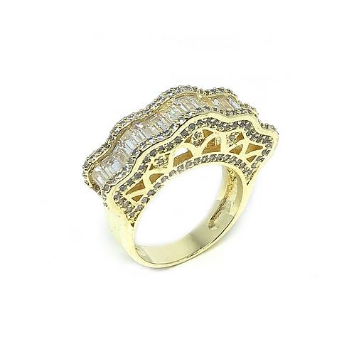 Anel Luxo Cravejado no Ouro