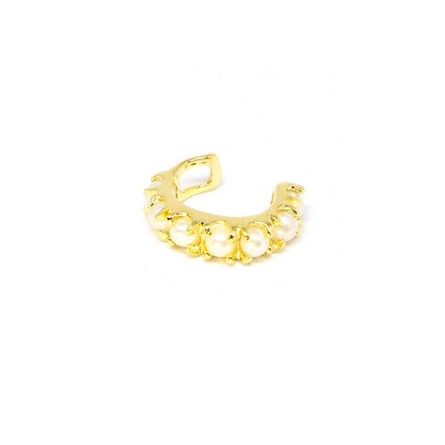 Piercing Fake com Pérolas no Ouro