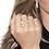 Thumbnail: Anel Borboleta Cravejado com Zircônia no Ouro