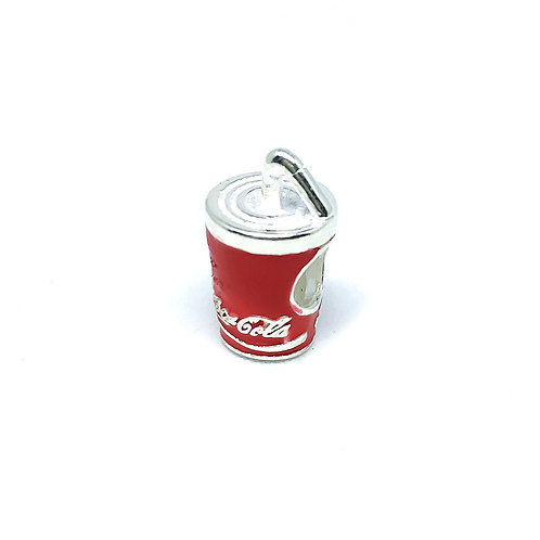 Berloque Prata 925 Coca-Cola