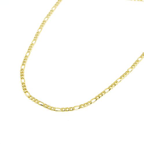 Colar Elos 3x1 Banhado a Ouro 67cm