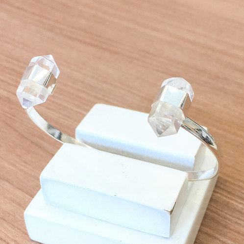 Bracelete Prata 950 com Cristal Biponta