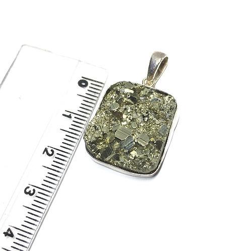 Pingente Prata 950 Pedra Pirita