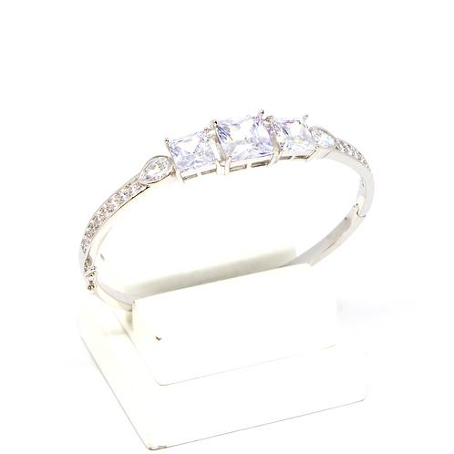 ATACADO Bracelete Luxo Cravejado com Zircônia Cristal no Ródio