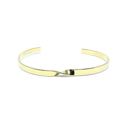 Bracelete Aro Torcido Banhado a Ouro