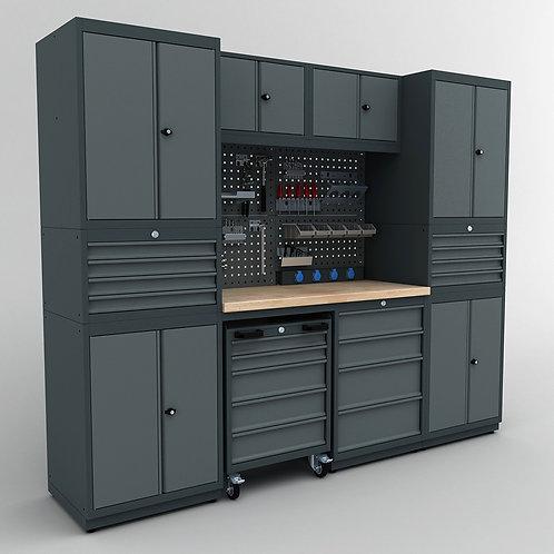 WS.61.17: modulare Metallwerkbank / Reihenwerkbank