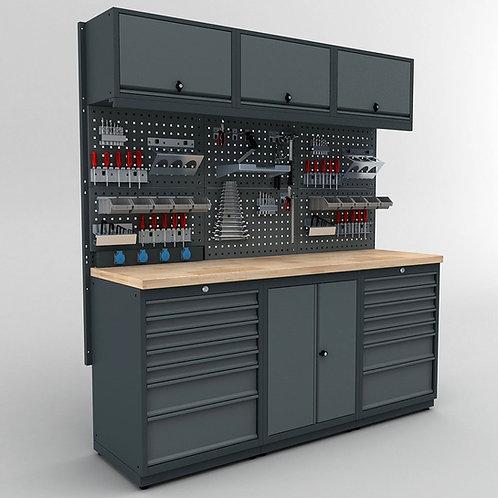 WS.61.16: modulare Metallwerkbank / Reihenwerkbank