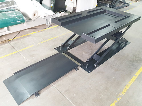 TPH-1500: Paletten-Flachscheren-Hubtisch U-Form, Traglast 1500kg, 1250x2000mm