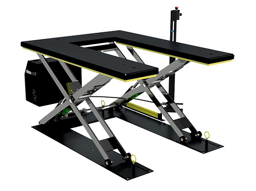 TPH-U0750S01: Paletten-Flachhubtisch U-Form, Traglast 750kg, 1250 x 1650mm