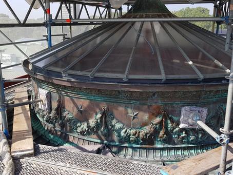 Historische Kupferkuppel Vierordtbad