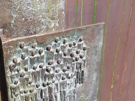 Kupfertür Vandalismusschaden (Soda- & Trockeneisstrahlen)
