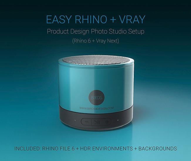 TUTORIAL RHINO + V-RAY Product Design Studio - EN