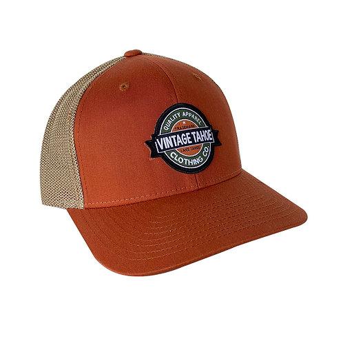 Flex Fit Trucker Orange Cap