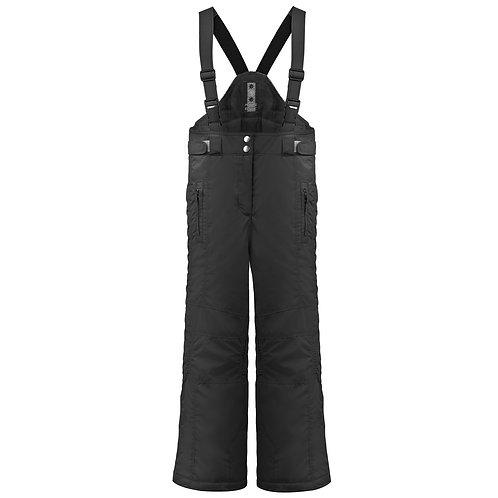 Pantalon de ski fille avec bretelles Poivre Blanc