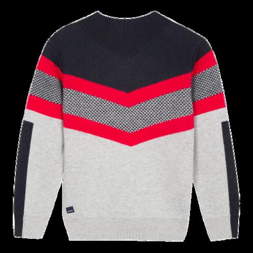 Pull tricot à jacquard graphic Garçon Catimini