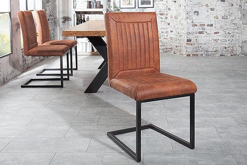 Chaise luge design Bristol brun clair 92 cm