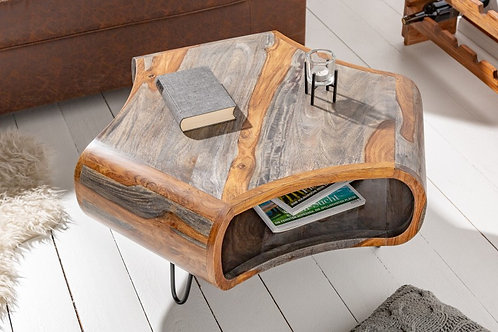 Table basse Organic Living 70cm Gris Sheesham