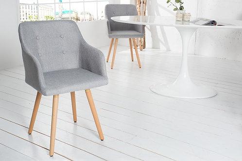 Chaise design Scandinavia tissu gris antique 84 cm
