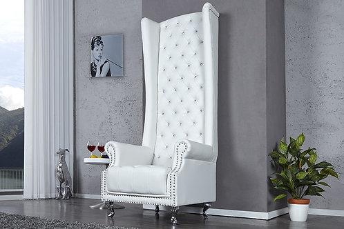 Fauteuil design Royal capitonné blanc