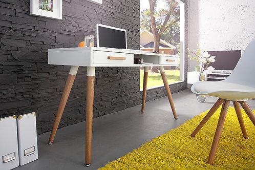 Console design Scandinavia bois chêne blanc 120 cm