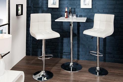 Tabouret de bar design Modena 90-115cm blanc